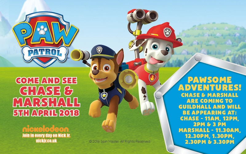 PAW PATROL COMES TO GUILDHALL SHOPPING CENTRE